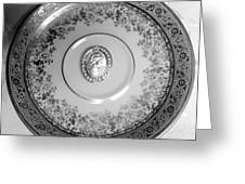 Silver Cameo Plate Greeting Card