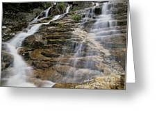 Silver Cascades - Crawford Notch New Hampshire Greeting Card
