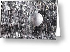 Silver Christmas Greeting Card