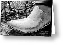 Silver Cowboy Boot Greeting Card