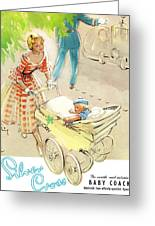 Silver Cross Baby Coach Greeting Card