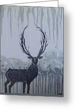 Silver Deer Greeting Card