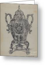 Silver Hot Water Urn Greeting Card