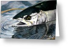 Silver In The Salt Greeting Card