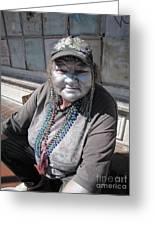 Silver Lady Greeting Card