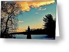 Silver Lake Sundown Greeting Card
