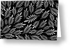 Silver Leaf Pattern 2 Greeting Card
