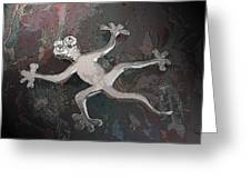 Silver Lizard Greeting Card