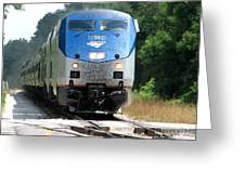 Silver Meteor Greeting Card