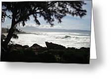 Hawaiian Silver Ocean Greeting Card