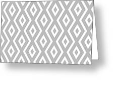 Silver Pattern Greeting Card by Christina Rollo