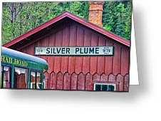Silver Plume Station Greeting Card