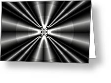 Silver Rays 1 Greeting Card