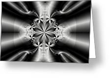 Silver Rays 2 Greeting Card
