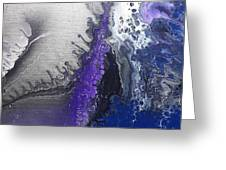 Silver Spill Greeting Card