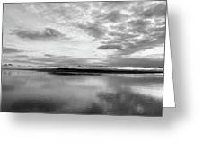 Silver Sunrise Greeting Card