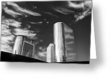 Silver Towers Greeting Card