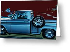 Silver Truck Greeting Card