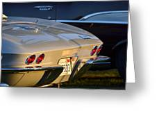 Silver Vette Greeting Card