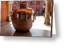 Silver Water Urn Jaipur Greeting Card