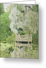 Silver White Willow Greeting Card by Aleksandr Jakovlevic Golovin