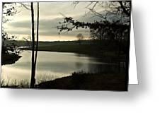 Silver Winter Lake Greeting Card