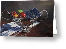 Silvered Fruit Greeting Card
