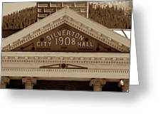 Silverton City Hall 1908 Greeting Card