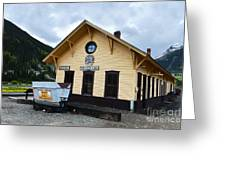 Silverton Train Depot Greeting Card