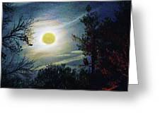 Silvery Moon Glow Greeting Card