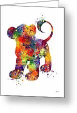Simba The Lion King Watercolor Art  Greeting Card