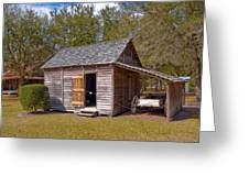Simmons Cabin Built In 1873 In Orange County Florida Greeting Card