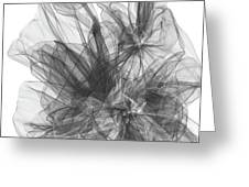 Simple Black And White Abstract Greeting Card