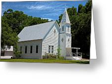 Simple Country Church Greeting Card