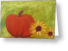Simple Lone Pumpkin Greeting Card
