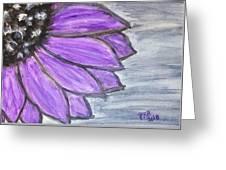 Simple Purple  Greeting Card