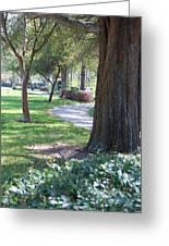Simple Side Walk Greeting Card