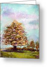 Simple Tree Greeting Card by Peter R Davidson