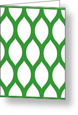 Simplified Latticework With Border In Dublin Green Greeting Card