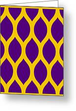 Simplified Latticework With Border In Mustard Greeting Card