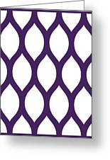Simplified Latticework With Border In Purple Greeting Card