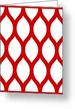 Simplified Latticework With Border In Red Greeting Card