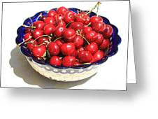 Simply A Bowl Of Cherries Greeting Card
