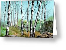 Simply Birches Greeting Card