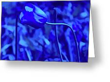 Simply Blue Pink Tulip Greeting Card