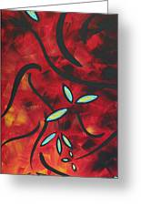 Simply Glorious 1 By Madart Greeting Card by Megan Duncanson