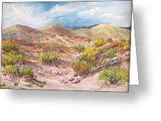 Simply The Desert Greeting Card by Jean Ann Curry Hess