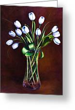 Simply Tulips Greeting Card by Shannon Grissom