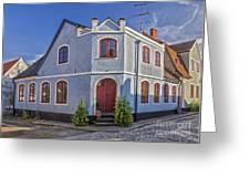 Simrishamn Townhouse Greeting Card