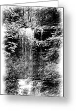 Simulated Pencil Drawing Tinker Falls. Greeting Card